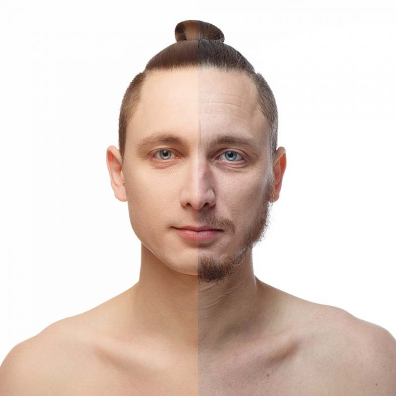 Pre e post rasatura